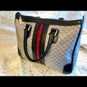 Gucci Vintage Blue Handbag
